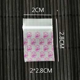 wholesale pink gift bags UK - 1000pcs 2cmx2.8cm   0.78inch x1.1inch Small Pink Pig Printed Ziplock Reclosable Bags Packing Plastic Bags gifts Bag