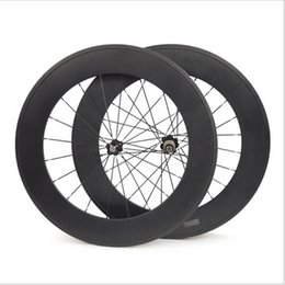 weight bike 2018 - 88mm Full Carbon Bicycle Wheels Front or Rear 700C Road Bike Wheels Light Weight 3K Glossy Tubular Surface Novatec Hub c