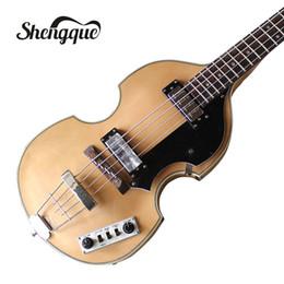 Discount violin fingerboard - Free shipping factroy custom Hofner Violin bass guitar BB2 4 strings electric bass guitar with rosewood fingerboard musi