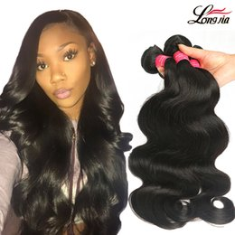 cheap 18 human hair extensions 2019 - Wholesale Malaysian Body Wave Virgin Hair Cheap Virgin Body Wave Hair Bundles Unprocessed Peruvian Indian Human Hair Ext