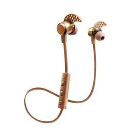 Wireless Headphones Mic Blue Australia - Universal bluetooth headphones 4.1 Deep Bass headphones Wireless in Ear Metal Sport Music bluetooth headphones with Mic