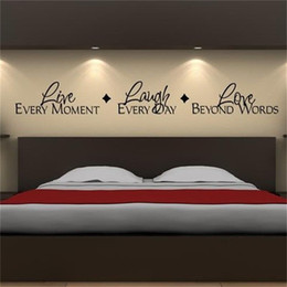 Love moment online shopping - Live Every Moment Lough Every Day Love Beyond Words Vinyl Lettering Quotes Bedroom Wall Stickers Decor Home Decal Arthaif