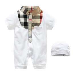 Girls white short sleeve online shopping - Baby Boys Rompers Short Sleeve Infant Jumpsuits Summer Baby Girls Clothing Sets Cartoon Newborn Baby Clothes for Month