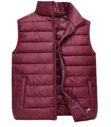 Wholesale male plus size down vest for sale - Group buy Men Autumn Plus Size Thick Down Jackets Man Winter Oversized Warm Down Parkas Male Winter Down Vests Men Spring Solid Outerwear