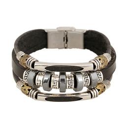 $enCountryForm.capitalKeyWord UK - New Beaded Leather Bracelet Yiwu Hot Rock Accessories Instagram Korean Silver Framed Jewelry Wholesale