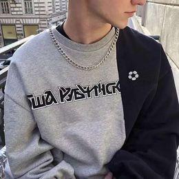 3fef2eefb596 Men woMen Matching sweaters online shopping - GOSHA RUCHINSKIY Logo Sweater  Vintage High Street Fashion Color