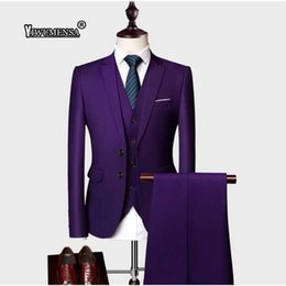 slim fit champagne suits for men UK - yiwumensa 2018 Two button Red Men Suits Fashion Cotton Men's Slim Fit business Working wedding Suit men Wedding suits For