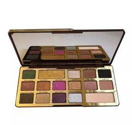 China 2018 Hot Chocolate Gold Eyeshadow Palette 16 Colors Chocolate Eyeshadow Matte Shimmer Natutal Palette DHL free cheap 16 eyeshadow suppliers