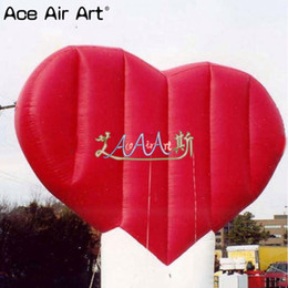 Balloon Heart Valentine Canada - Air blown huge inflatable heart with customized logo,valentine inflatables giane heart model with base stand