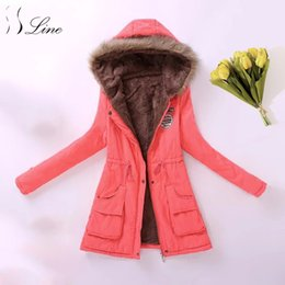 $enCountryForm.capitalKeyWord Canada - SSLine 2017 Hot Casual Parkas Women Winter Warm Pockets Solid Cotton Long Parka Womens Slim Office Lady Down Coat for Winter