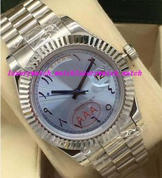 $enCountryForm.capitalKeyWord Australia - Luxury Watches 2 Style Platinum 41mm Ice Blue Arabic Rare Dial Fluted Bezel Automatic Fashion Brand Men's Watch Wristwatch