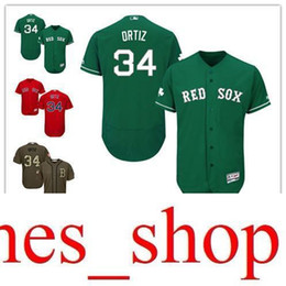 dc06b282972 Green red grey white Celtic David Ortiz Authentic Jersey , Men's #34  Majestic Bn Red Sox Flexbase Collection