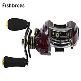 Fake Bait Canada - 18 Ball Bearings Baitcasting Reels Right Left Hand Metal Fishing Bait Casting Reel with One Way Clutch Ocean River Left Right Hand