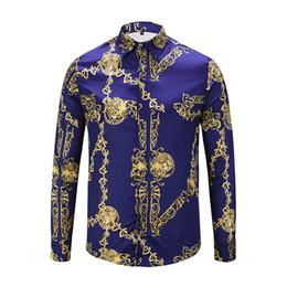 2018 designers de mode pour hommes Italie nouveauté de la mode automne automne revers hommes chemise Medusa occasionnels de haute qualité Paul chemise. en Solde