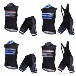 giant bicycle team jersey 2019 - GIANT team Cycling Sleeveless jersey Vest (bib)shorts sets Men MTB Bicycle Wears 3D Gel Pad Bib Shorts Bike Clothes kits