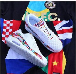 a8fe382db7883 Top quality 90 NIC QS World Cup 2018 International Flag Pack AO5119 Mens Women  black Running Shoes Casual Sports Sneakers Zapatos us5.5-12
