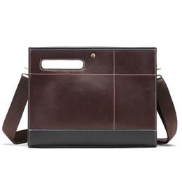 Chinese  Fashion Brand Retro Korean Men's Handbag Briefcase A4 Bag New Design Business Casual Crossbody Shoulder Bag Buckle Hand Male manufacturers