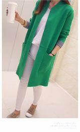 $enCountryForm.capitalKeyWord Canada - Women Sweater Long Cardigan 2018 New Fashion Autumn Winter Long Sleeve Loose Knitted Cardigan female Sweaters Long Coat