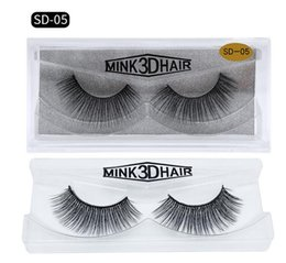 Beauty Essentials Beauty & Health Fashion Style 1pair D008 100% Real Siberian 3d Mink Full Strip False Eyelash Long Individual Eyelashes Mink Lashes Extension Tools