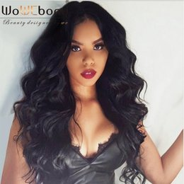 Discount 16 inch body wave wig - WoWEbony 6 Inches Deep Part 360 Lace Frontal Wig Indian Remy Hair Body Wave Human Hair Wig Pre-plucked Hairline [N360BW0