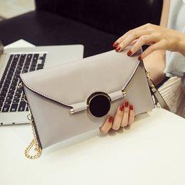 Gray Handbags NZ - 2018 gold Chain Clutch Bag for lady girl Women's Handbag Fashion Envelope Bag bolsa feminina sac gray summer day clutches