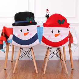 $enCountryForm.capitalKeyWord UK - Christmas Decoration Santa Claus Red Hat Chair Back Cover for Home Party Holiday Christmas Dinner Table Decor JLE115