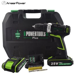 Tools For Drill Australia - 25V Plus Power Tools Cordless Rotary Tool Mini Electric Drill Hand Drill Mini 2Batteries For Screwdrivers Rechargeable Battery