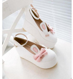 22b924c034b Lolita Pu Black Shoes Canada - Japanese New Sweet Princess Lolita rabbit  ear thick muffin bottom
