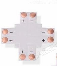 Rgb Connector L Australia - Free shiping 5pcs 2Pin 4Pin LED Connector 8mm 10mm L T X Shape No Welding Adapter Use For 3528 2812 5050 RGB Light Strip Light