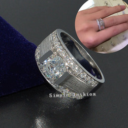 engagement solitaire diamond rings for men NZ - choucong Brand Jewelry Solitaire Men ring 2ct Diamond 925 Sterling silver ring Engagement Wedding Band Ring for Men