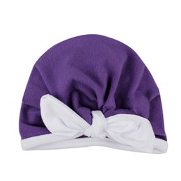 girl children models NZ - 2018 European and American new children's hats Explosive models hit the color lace rabbit ears headgear hat baby hat