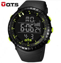 Discount men watches resistant - OTS Luxury Brand Digital Watch Men Sports Watches 50M Waterproof Swimming Outdoor Climbing Wristwatch relogio masculino