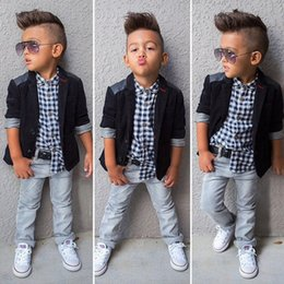 $enCountryForm.capitalKeyWord Canada - New arrival 2-7 years children casual blazer jacket shirt jeans kids wear costumes 3pcs set boys clothing outfits