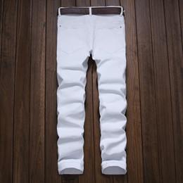 Torn jeans fashion online shopping - Patchwork Red White Black Ripped Denim Pant Knee Hole Zipper Biker Jeans Men Slim Skinny Destroyed Torn Jean Pants Hip Hop Swag
