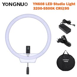 power adapter bag NZ - wholesale YN608 LED Studio Ring Light 3200K~5500K Wireless Remote Video Light CRI>95 Photo Lamp with Carry Bag and Power Adapter