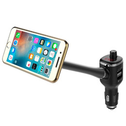 bluetooth handsfree car kit for iphone 2019 - VODOOL Bluetooth FM Transmitter Handsfree Car Kit MP3 Player Digital Dual USB Charger Magnetic Phone Holder For iPhone S