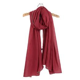 Chinese  Fashion New Women Scarf Scarves Plain Bubble Shawls Shawl Solid Mujer Bufanda Cotton Linen Muslim Hijab Warm Wrap Cape 90x180cm manufacturers