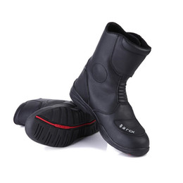 Moto Shoes UK - BLACK Motorcycle Waterproof Boots Arcx L54947 rubber shoe race boot motocross Cycling Shoes Waterproof Moto boots