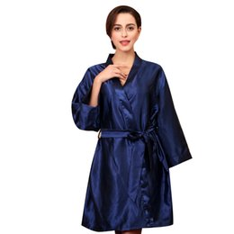 Wholesale sleep tops online – Sleep Tops Womens Sleep Summer Casual Comfortable Breathable Full Solid V Neck Belt Knee Length Silk Silk Pajamas Tops