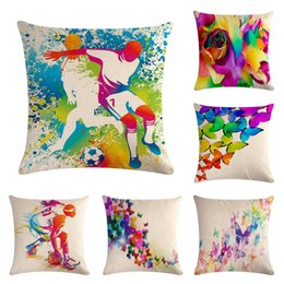 Wholesale Colorful Dancer Printed Cotton Linen Pillow Case Decorative Office Home Throw Pillow Cover Living Room Decor