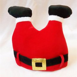 discount christmas gifts for adult children red creative trousers christmas decorations hats christmas ornaments adult
