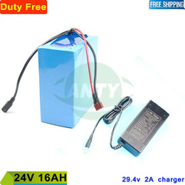 24v Bicycle NZ - Electric Bicycle Battery 24v 16Ah 350W Lithium ion Battery Pack 24v for eBike 24v with 15A BMS + 2A Charger Duty Shipping Free
