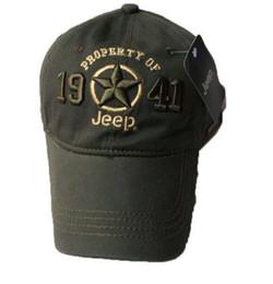 6cd6e980 Nouveau 1941 Armée Vert Jeep Chapeau Casquette Femmes Hommes Unisexe  Baseball Balle De Golf Sport Casquette Top Qualité JEEP Broderie Chapeau