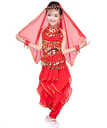 $enCountryForm.capitalKeyWord UK - Child Dancing Wear Kid Bellydance Costume Top + Skirt +Belt + Veil Girl Belly dance Clothing