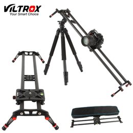 Dslr Camera Dolly Slider NZ - Viltrox VC-80 80cm Carbon Fiber 6 Bearings DSLR Camera DV Slider Track Video Stabilizer Rail Dolly for Video DSLR Camcorder