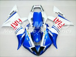 $enCountryForm.capitalKeyWord Australia - 3 free gifts Complete Fairings For Yamaha YZF 1000 YZF R12002 2003 Injection Plastic Motorcycle Full Fairing Kit Blue White I12