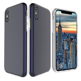Huawei google pHone online shopping - For iPhone X plus clear tpu frame Slim Hybrid cellphone case For samsung s9 plus S8 j7 prime LG Huawei Xiaomi Google phone Cases Cover