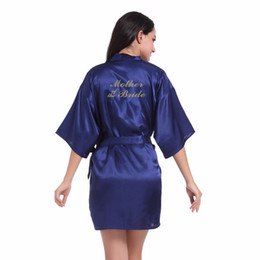 China Hot Wedding Mother of the Bride Bridesmaid Robe Floral Bathrobe Kimono Robe Night Bath Fashion Dressing Gown For Women supplier wedding dresses for mother knees suppliers