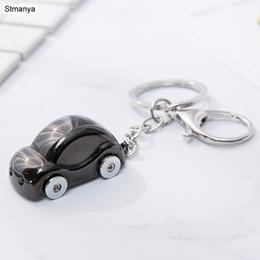 New Men LED Metal Key chain Women Beetle shaped Car Key Ring fashion Charm  Holder Hot Keychain Best Jewelry Gift K2001 9d8a277016