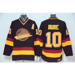 3f4336209d5 free shipping 10 Pavel Bure Starter Vancouver Canucks Hockey Jersey Men s  Embroidery Stitched Customize any number and name College Jerseys